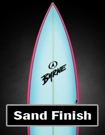 sanded finish surfboard