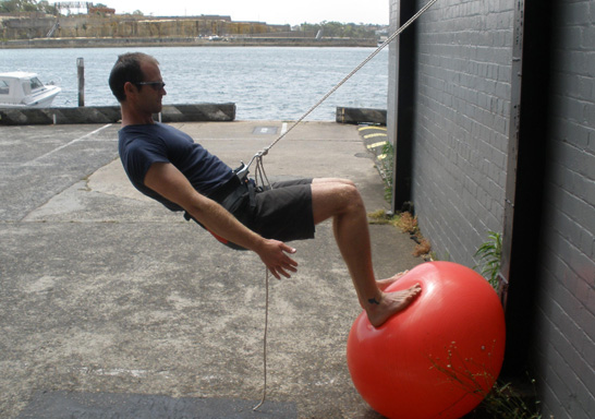 wall squat for surfing
