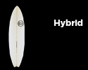 Hybrid surfboard design