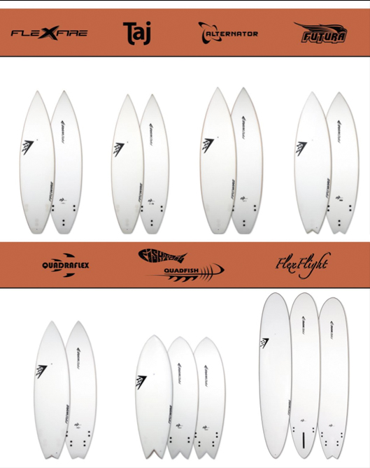 The complete list of Firewire Surfboards