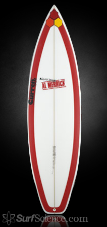 channel islands red beauty surfboard review at surfscience com